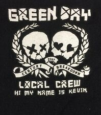 Green Day 21st Century Breakdown Tour Local Crew Large T Shirt Rare
