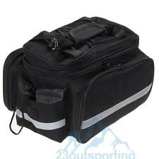 Waterproof Cycling Bicycle Bike Rear Seat trunk Bag Handbag Pannier Black