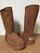 UGG Australia Womens Classic Tall Chestnut Suede Winter Boots SZ 6 DEFECTIVE NIB