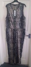 BNWT W118 WALTER BAKER All In One Jumpsuit Playsuit Leopard Snakeskin Size L