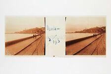 Menton France Plaque de verre stéréo positive 1913