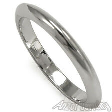 Solid 14k White Gold Half a Round Knife Edge Classic Wedding Band Ring R1330