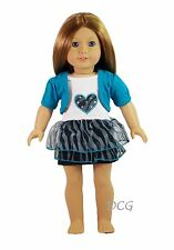 """AFW STUDDED HEART DRESS for 18"""" American Girl Dolls Outfit Gown Clothes  NEW"""