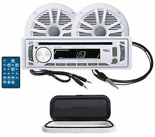 "Boss MR648UA Marine CD/AM/FM/USB/SD Player+6.5"" Speakers+Aux Cable+Antenna+Guard"