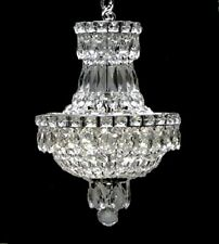 3 LIGHT EMPIRE STYLE SILVER COLOR CRYSTAL CHANDELIER KITCHEN DINING LIVING ROOM
