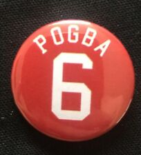 """Pogba 6 Badge 25mm 1"""" Pin Button Badge Manchester United Football"""