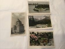 Lot of 4 vintage 1919  RPPC tinted postcards Vancouver, BC Canada