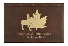 Canadian Wildlife Serie münzbox/Box/münzkassette per 6x 1 OZ ARGENTO