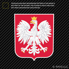 Polish Coat of Arms Sticker Decal Self Adhesive Vinyl Poland flag POL PL