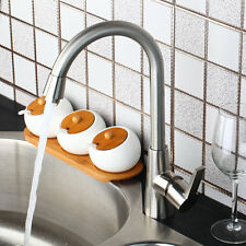 NEW Rotated Brushed Nickel Deck Mounted Kitchen Sink Bar Mixers Taps Bar Faucet