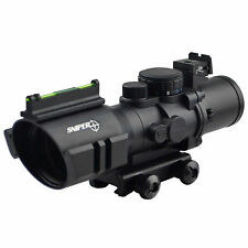 Sniper Scope Prism 3.5x40CB Long Eye Relief Horeshoe Reticle W/ Optic Fiber