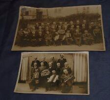 CASTIGLIONE TORINESE 2 FOTO CLASSE 1912 COSCRITTI ORIGINALE ANNI 1930 TORINO