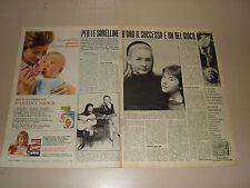 DANIELA LORETTA GOGGI SORELLINE 1966 clipping ritaglio articolo photo foto