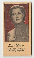 American US Engrav-O-Tints Weighing Weight Machine Card US Actress Irene Dunne