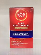 SEVEN SEAS PURE COD LIVER OIL HIGH STRENGTH - 60 CAPSULES