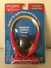 Story Reader Stereo Headphones & AC Adapter Combo Pack pi kids New