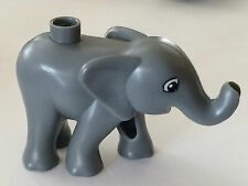 *NEW* Lego Duplo Animal BLUISH DARK GRAY Baby ELEPHANT Standing