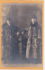 Studio Real Photo Postcard RPPC - Two Dapper Men in Large Fur Coats
