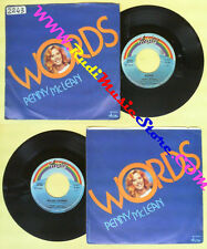LP 45 7'' PENNY MCLEAN Words Roller coaster 1982 italy ARISTON no cd mc dvd