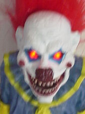 Laughing Light Up Full Body Clown Figure Evil Laugh With RED LED EYES (NEW)