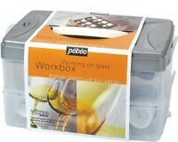 Pebeo Vitrea 160 Stained Glass Paint Workbox 10 Colours