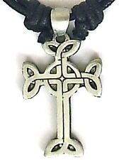 CELTIC KNOT LOVERS CROSS PEWTER PENDANT MENS BOYS WOMENS GIRLS NECKLACE  P0511