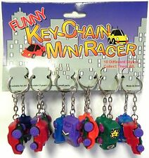 Wholesale Closeout Lot of 12 Key Chain Mini Racer Brand New Cheap Sale