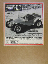 1969 Berry MINI-T vw-chassis Dune Buggy photo vintage print Ad