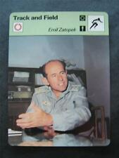 1977-1979 Sportscaster Card Track and Field Emil Zatopek 14-12