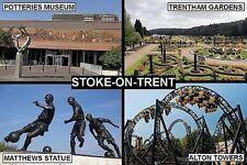 SOUVENIR FRIDGE MAGNET of STOKE-ON-TRENT ENGLAND