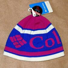 Columbia Heat Beanie, Blue/Purple/White - Omni-Heat Fleece Lined Hat - $30 NWT!