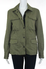 Rag & Bone Green Cotton Collared Double Closure Military Jacket Size 8
