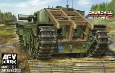 "Char Britannique CHURCHILL MK IV ""AVRE"" porte-fascines- KIT AFV CLUB 1/35- 35288"