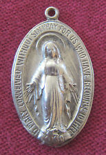 Vintage Catholic Religious Holy Medal - STERLING - Miraculous - CLASSIC - OLD