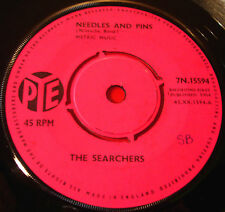 "The Searchers Needles And Pins 7""UK ORIG 1964 Pye 7N.15594 bw Saturday Night Out"
