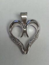 GOLD PLATED CUBIC ZIRCONIA HEART SHAPED PENDANT!!