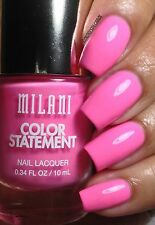 NEW! Milani Color Statement Nail Polish in BOMBSHELL #07 Bright Barbie Pink
