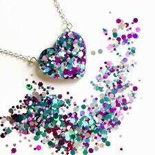 MERMAID DUST NECKLACE - Glitter Jewellery Gift Set 925 Sterling Silver Resin