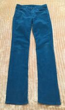 American Apparel Corduroys Sexy Teal Turquoise Blue Straight Leg Pants - Size 26