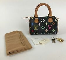 Louis Vuitton Mini HL Multicolore Noir Murakami Speedy Bag France