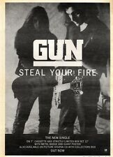 7/3/92Pgn27 Advert: Gun steal Your Fire New Single On A&m Records 15x11""