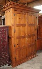 1 Distressed Lane Furniture Pine 2 Door Bedroom Armoire TV Cabinet Closet