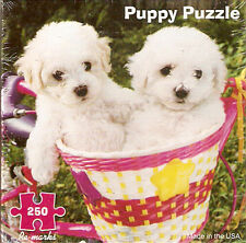 Bichon Frise Puppy Puppies Jigsaw Puzzle 250 piece Made in US from Recycled