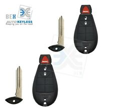 2New Replacement Key Fob Keyless Entry Remote for Jeep Dodge Chrysler Fobik 3btn
