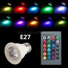 RGB E27 3W LED 16 Farben Glühbirne Spot Glühlampe Farbwechse+IR Fernbedienung