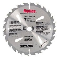 "NEW! PORTER CABLE Riptide Saw Blade 7-1/4"" 24-Tooth 12810"