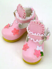 * WOW! VOLKS PINK FLOWER SHOES * MSD OR SD CUTE * DOLPA OSAKA 4 *