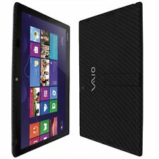 Skinomi Carbon Fiber Black Skin+Screen Prot for Sony Vaio Tap 11 (SVT11213CXB)