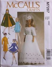 """11 1/2"""" FASHION DOLL CLOTHES * BRIDE  McCall's Sewing Pattern 7267 NEW Uncut"""