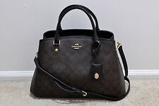NWT Coach Small Margot Carryall in Signature Canvas Brown/Black F34608 MSRP $395